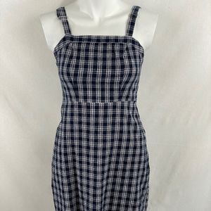 Brandy Melville Navy Checked Dress - OS